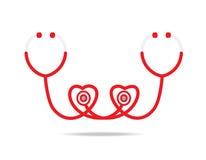 Stethoscope. Icon on white background Royalty Free Stock Image