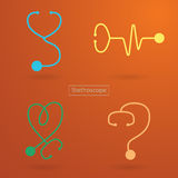 Stethoscope icons Royalty Free Stock Photography
