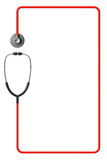 Stethoscope In Red As Frame Stock Photo