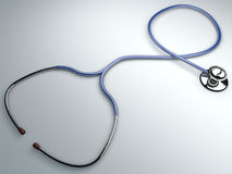 Stethoscope, instrument cardiac auscultation Royalty Free Stock Photos