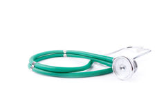 Stethoscope isolated on white Royalty Free Stock Photography