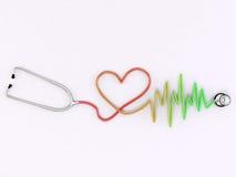 Stethoscope isolated on white background. Medical Stethoscope isolated on white background royalty free illustration