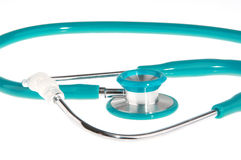 Stethoscope isolated on white Royalty Free Stock Photos