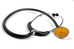 Stethoscope isolated on white Royalty Free Stock Images