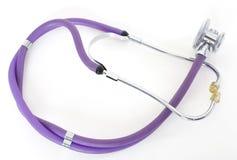 Stethoscope isolated on white background, medicine concept nobody Stock Images