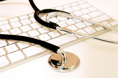 Stethoscope with Keyboard Royalty Free Stock Photos