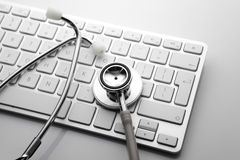 Stethoscope on the keyboard Stock Image