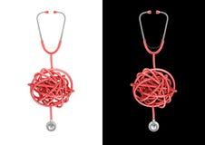Stethoscope knot Royalty Free Stock Photo