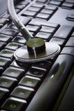 Stethoscope and laptop Royalty Free Stock Photo