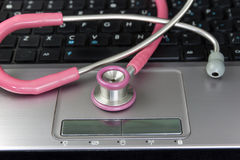 Stethoscope and Laptop Stock Image