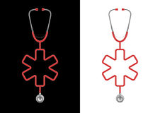Stethoscope life cross Royalty Free Stock Photo