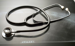Stethoscope on light box Royalty Free Stock Photography