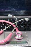 Stethoscope and Loptop1 Royalty Free Stock Image