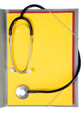 Stethoscope is lying on papers Royalty Free Stock Photo