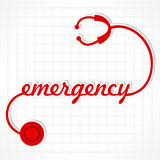 Stethoscope make emergency word Stock Images