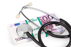Stethoscope and money Stock Photos