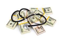 Stethoscope and money Stock Image