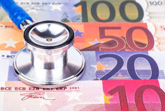 Stethoscope and money Stock Images