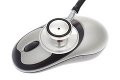 Stethoscope with a mouse Royalty Free Stock Photography