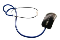 Stethoscope and of mouse Royalty Free Stock Photos