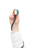 Stethoscope with national flag series - Cote d'Ivoire - Ivory Coast Royalty Free Stock Image