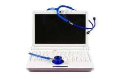 Stethoscope and notebook. Royalty Free Stock Photo