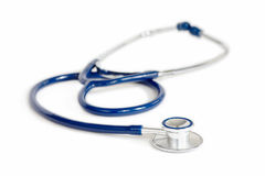 Stethoscope over White Royalty Free Stock Photography