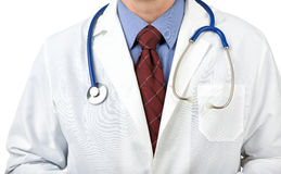 Stethoscope on physician. Closeup of stethoscope on physician Stock Image