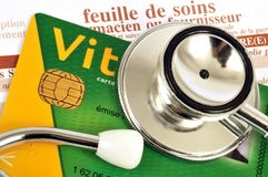 French social security card close up stock photos