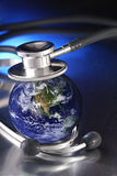 Stethoscope on planet Stock Photos