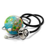 Stethoscope And Planet Earth Stock Photography