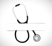 Stethoscope on a pocket. illustration design Stock Image