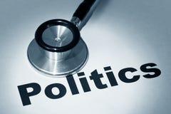 Stethoscope and Politics Royalty Free Stock Photos