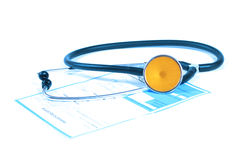 Stethoscope and prescription Stock Images