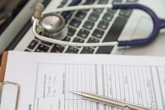 Stethoscope and prescription Stock Photo