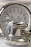 Stethoscope and pressure indicator Stock Photography