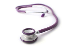 Stethoscope purple Stock Photos
