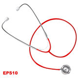 STETHOSCOPE. Realistic.  on white background. Vector image Stock Image