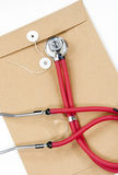 Stethoscope and record document Royalty Free Stock Photo