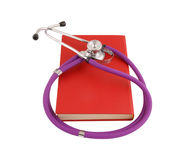 Stethoscope on the red book Stock Photo