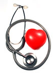 Stethoscope with red heart. Stock Photography