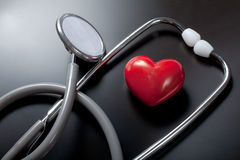 Stethoscope & red heart Royalty Free Stock Photo