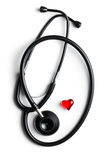 Stethoscope and red heart Royalty Free Stock Photo