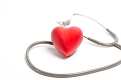 Stethoscope and red heart Royalty Free Stock Photos
