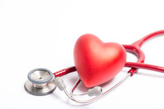 Stethoscope and red heart Royalty Free Stock Image