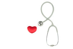 Stethoscope and red hearth Stock Photo