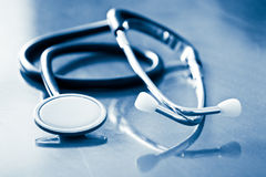 Stethoscope with reflection Stock Photos