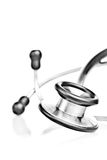 Stethoscope with reflections on a white background Royalty Free Stock Photography