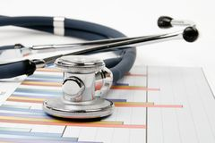 Stethoscope - Research of balance Royalty Free Stock Image