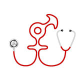 Stethoscope in shape of male and female symbol Royalty Free Stock Photos